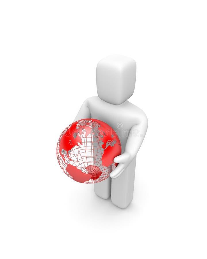 Nehmen Sie die Welt lizenzfreie abbildung