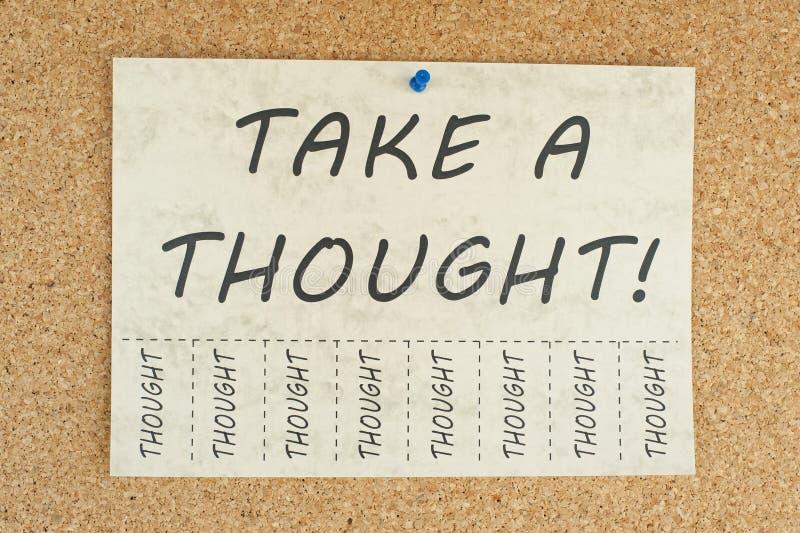 Nehmen Sie einen Gedanken lizenzfreies stockbild