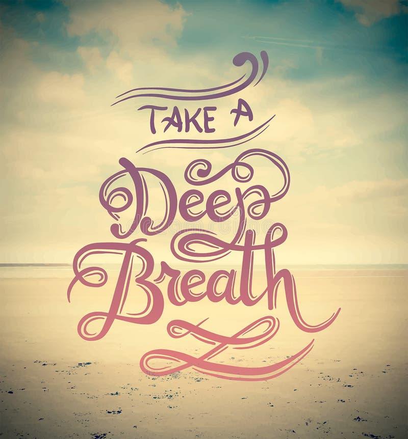Nehmen Sie einen Vektor des tiefen Atems stock abbildung