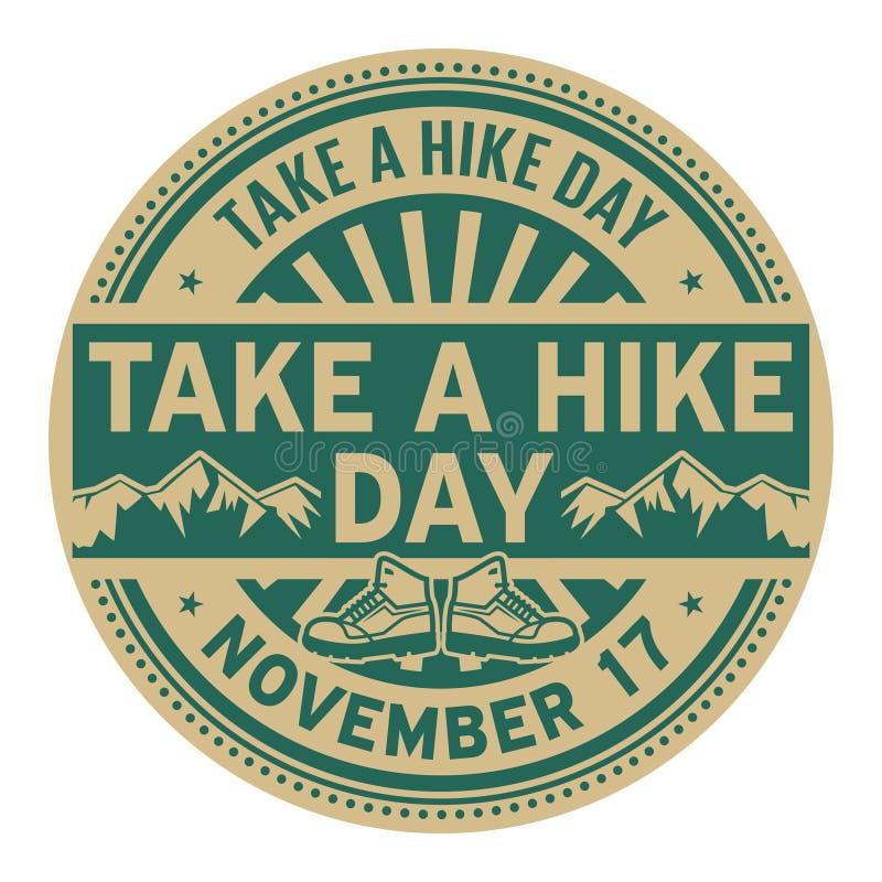 Nehmen Sie einen Wanderungs-Tag, am 17. November stock abbildung