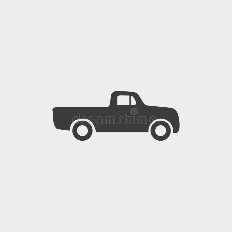 Nehmen Sie Ikone in einem flachen Design in der schwarzen Farbe auf Vektorabbildung EPS10 stock abbildung