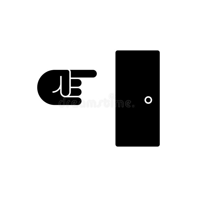 Nehmen Sie Ikone, Vektorillustration, schwarzes Zeichen auf lokalisiertem Hintergrund heraus lizenzfreie abbildung
