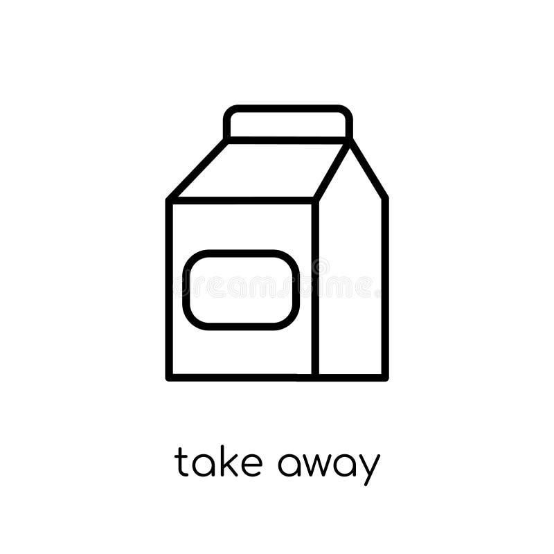 Nehmen Sie Ikone von der Restaurantsammlung weg stock abbildung