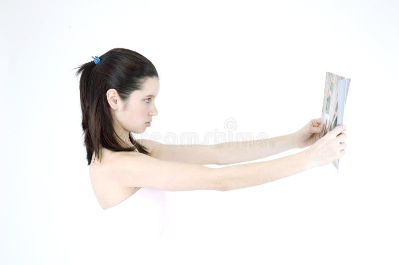Neidisches Mädchen lizenzfreie stockbilder
