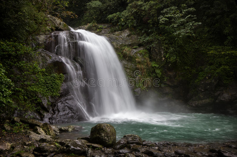 Neidong Waterfall in Wulai, Taiwan stock photography