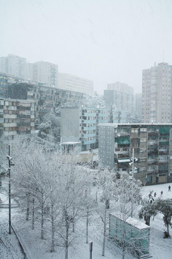 Neige à Barcelone photos libres de droits