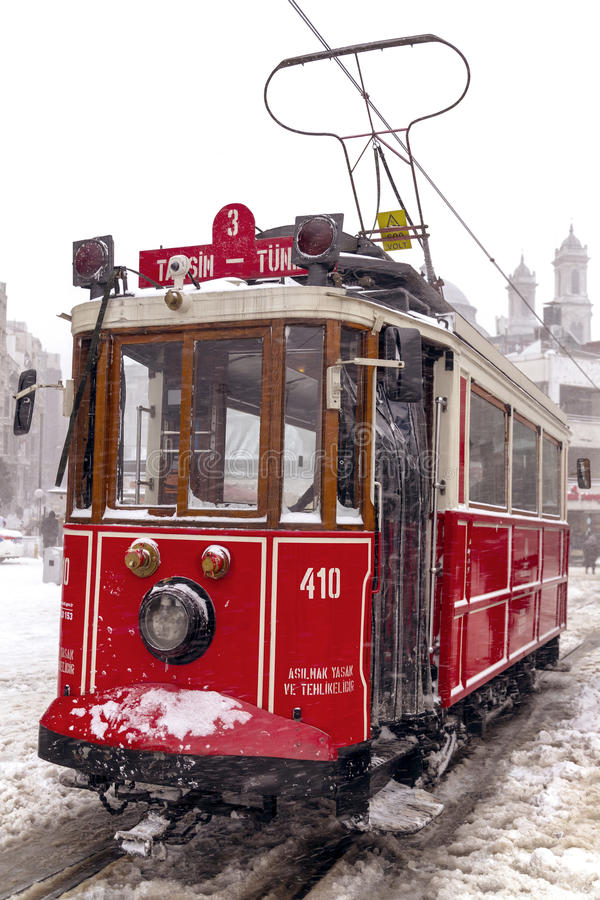 Neige à Istanbul images stock
