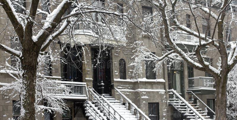 neige à Montréal image libre de droits