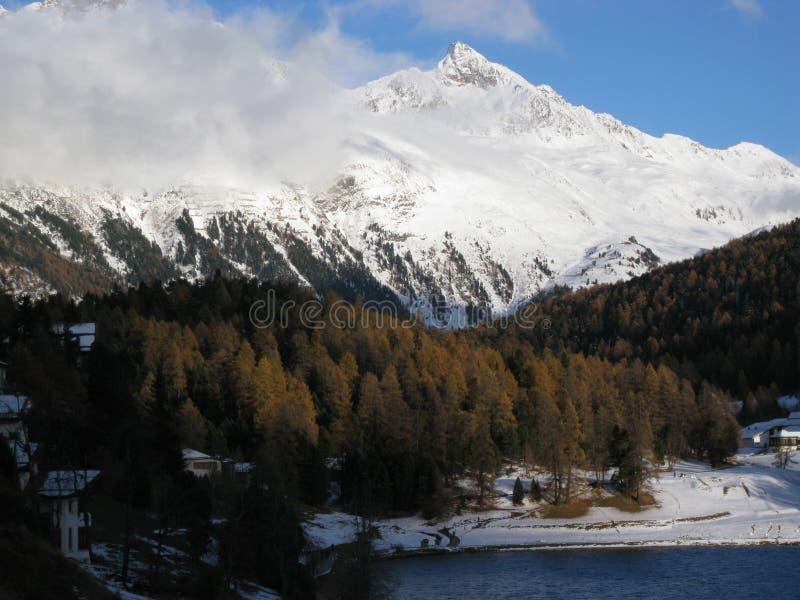Download Neige photo stock. Image du montagne, vallée, mélèze - 77154806