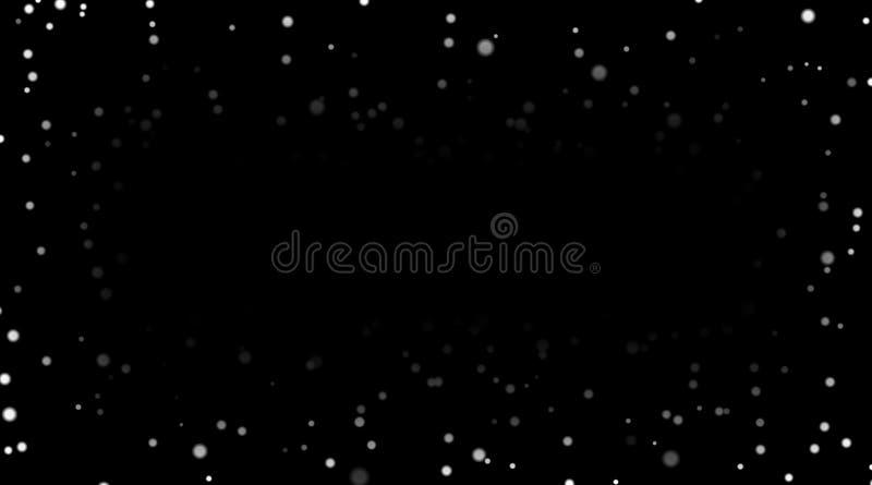 Neige blanche sur le fond noir Neige argentée en baisse de witn abstrait de texture d'hiver Conception de la poussière de jet d'é illustration de vecteur