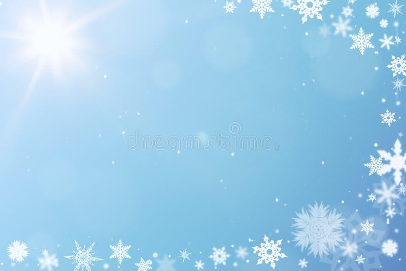 Neige comme fond pour des chrismas illustration de vecteur