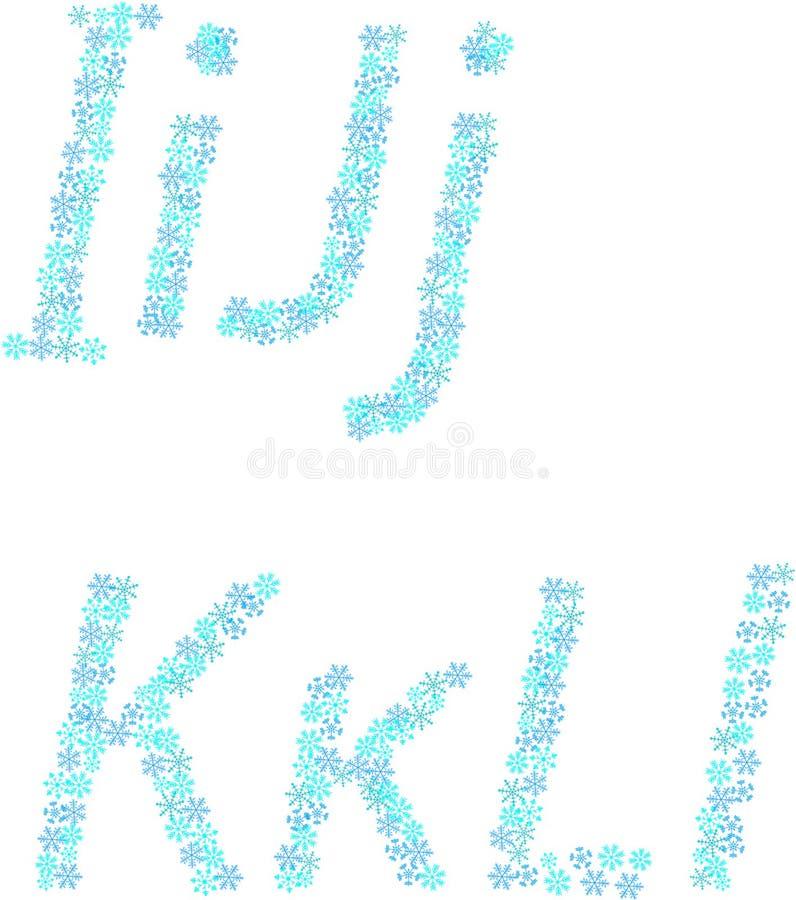 neige d'alphabet illustration libre de droits
