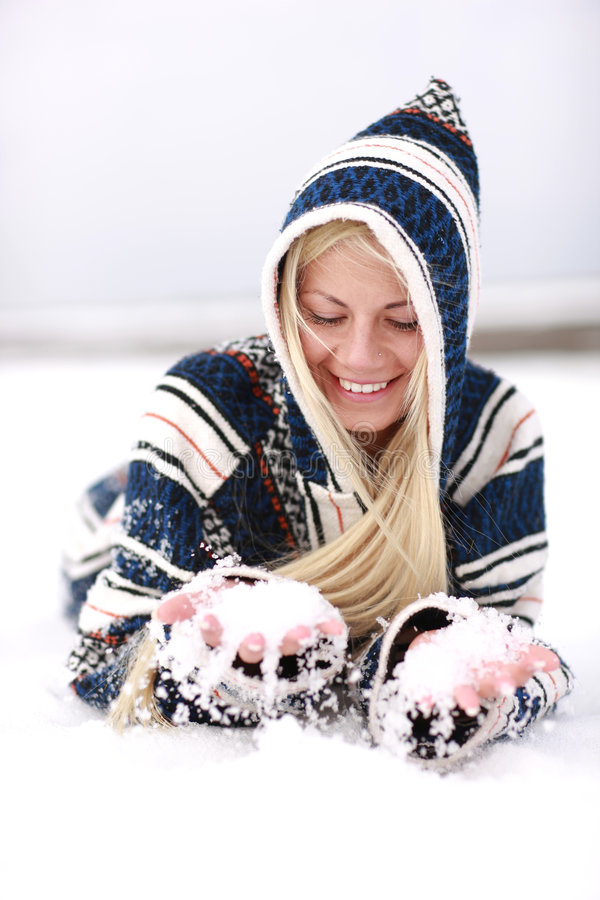 neige d'amusement photos stock