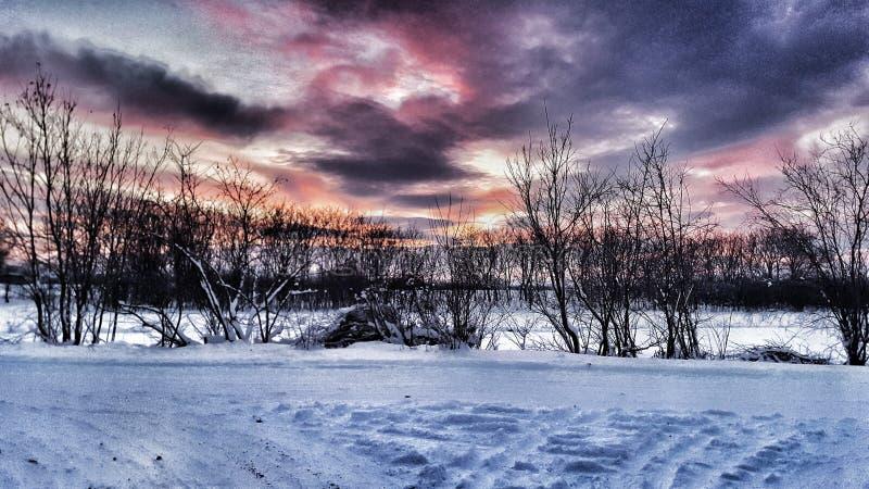 Neige d'apocalypse photographie stock