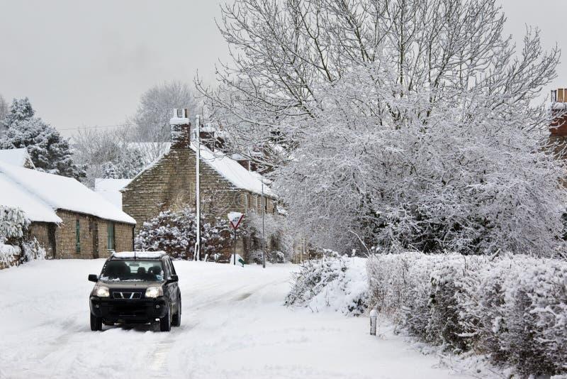 Neige d'hiver North Yorkshire - au Royaume-Uni photographie stock