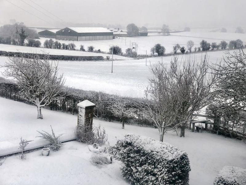 Neige d'hiver - North Yorkshire - Royaume-Uni photos stock