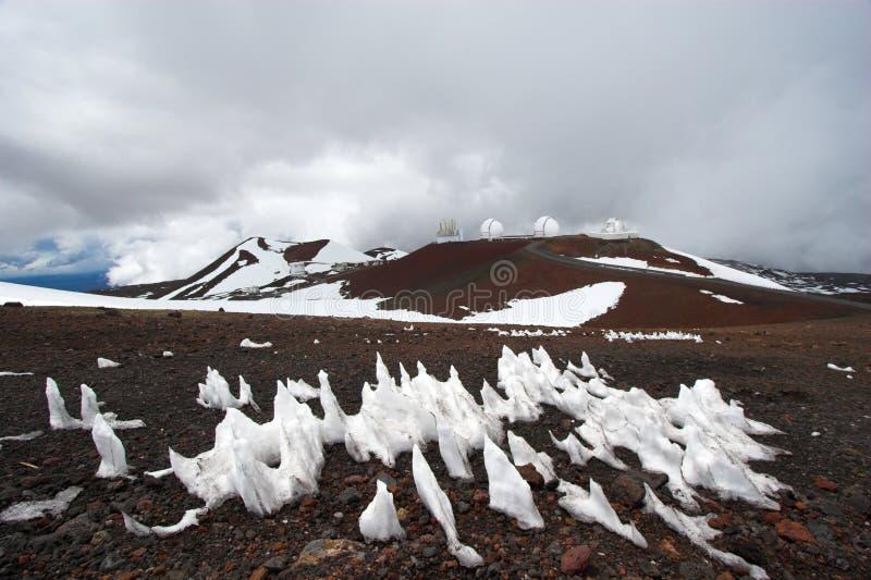 neige d'observatoires photos libres de droits