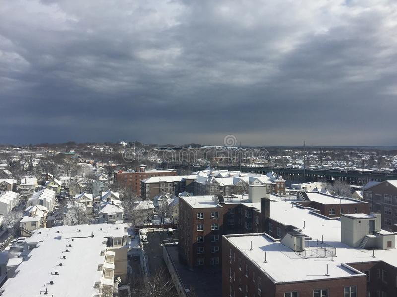 Neige dans Stamford, le Connecticut photos libres de droits