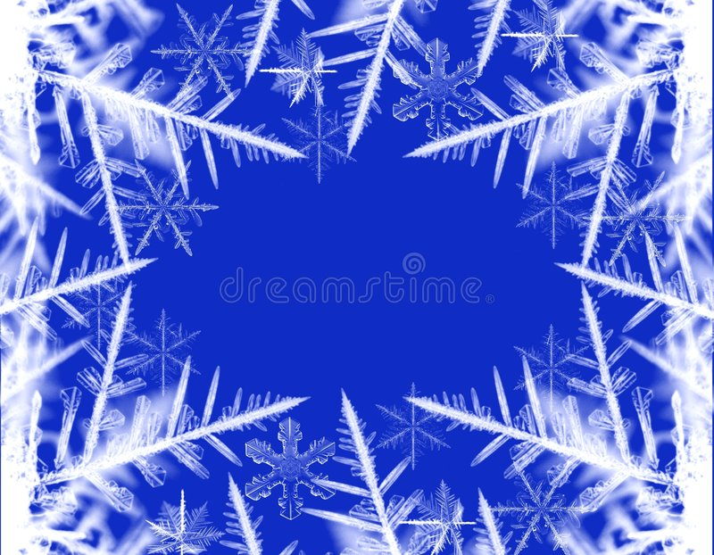 neige de cadre illustration de vecteur