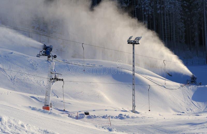 neige de canon photo stock