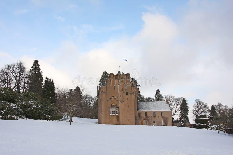 neige de crathes de château photo libre de droits