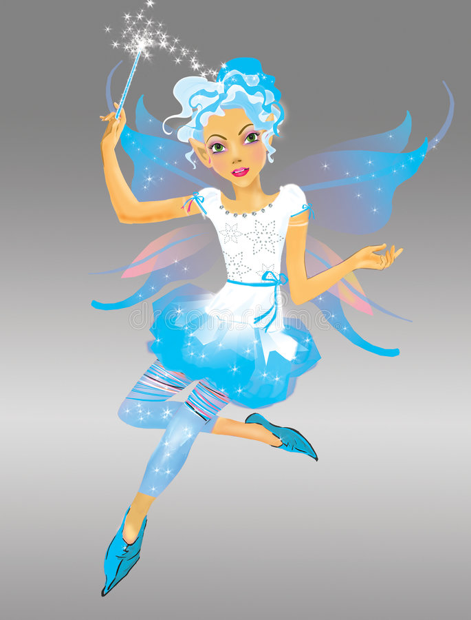 neige de fille d'elfe illustration stock