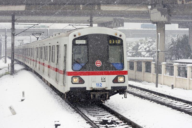 neige de la métro s Changhaï photographie stock libre de droits