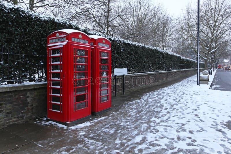 Neige de Londres photo stock
