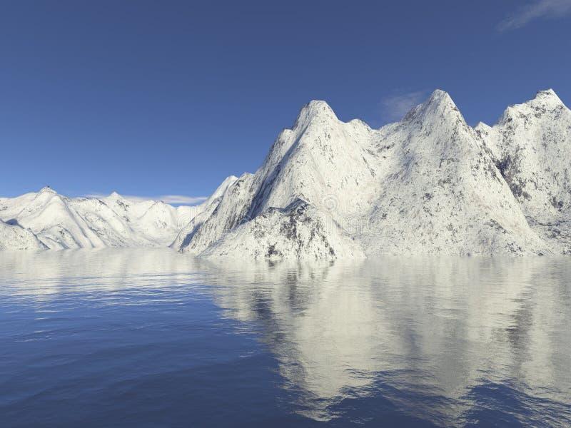 Neige de montagne illustration libre de droits