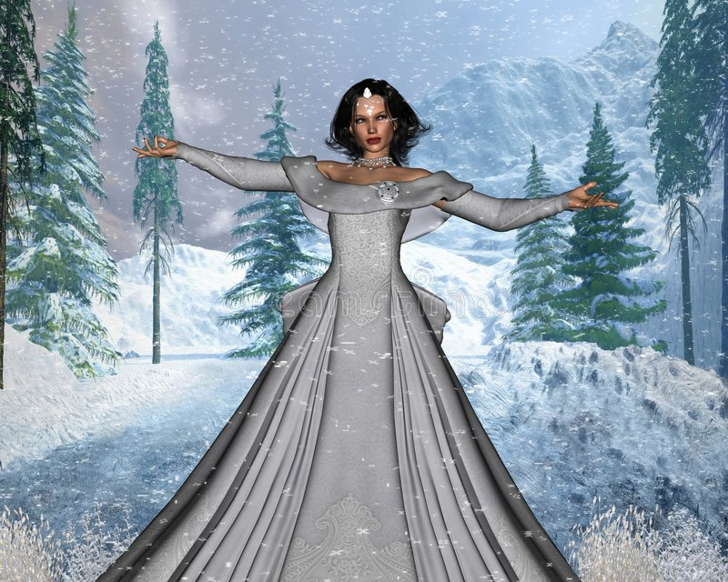neige de reine illustration de vecteur