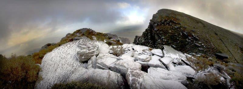 Neige de Stirlings panoramique photographie stock