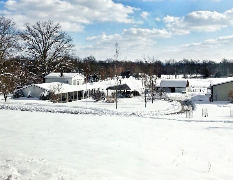 Neige du Kentucky photographie stock libre de droits