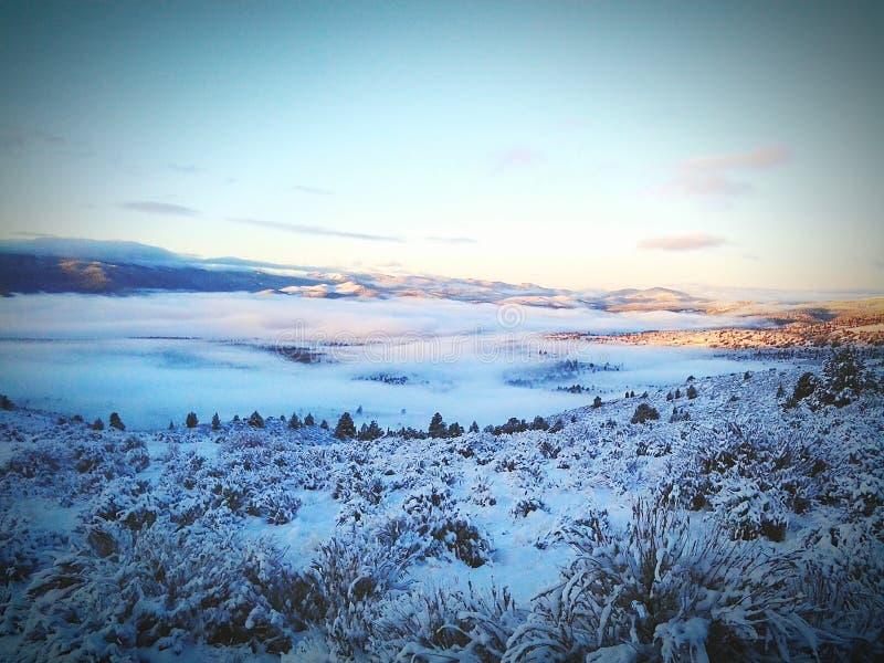 Neige du soleil d'hiver photos stock