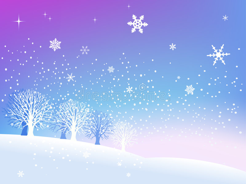 Neige en hiver illustration libre de droits