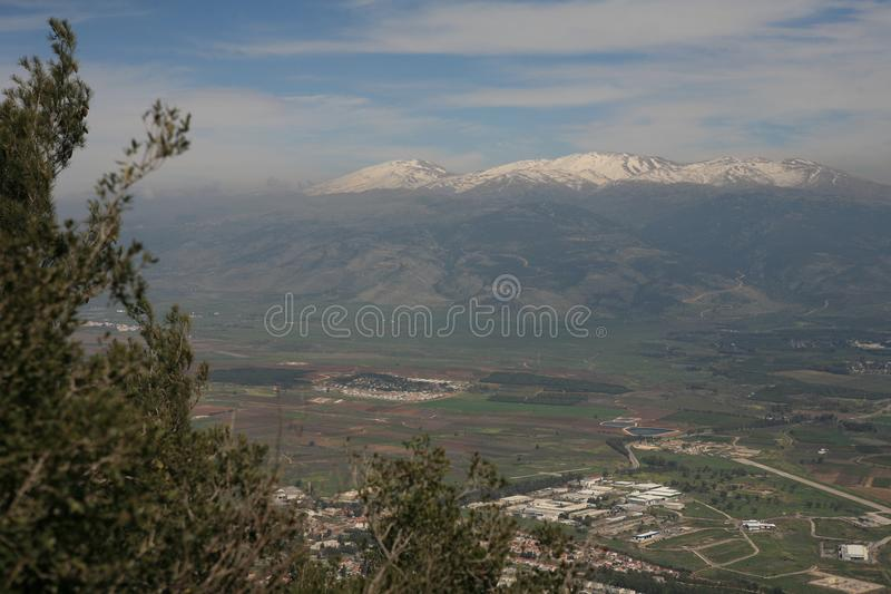 Neige en mont Hermon, Israël images libres de droits