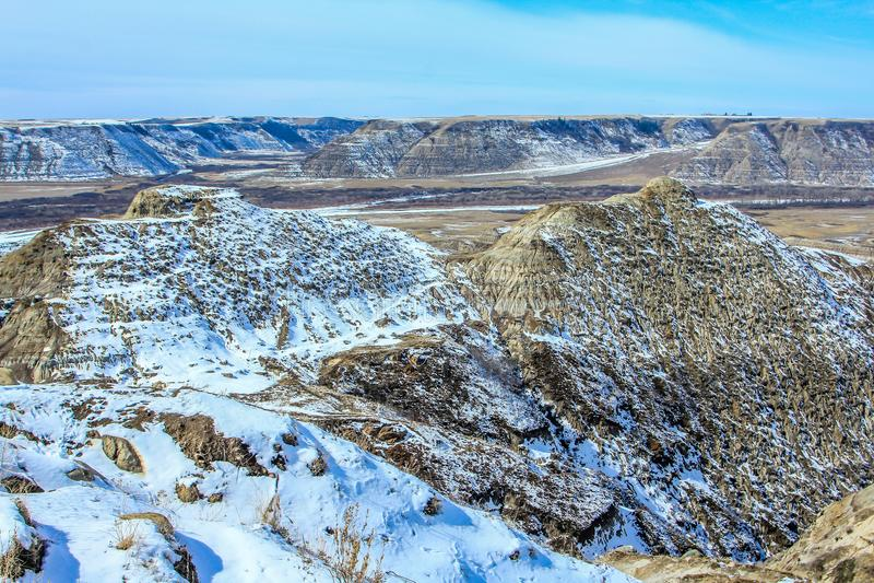 Neige en retard dans le voleur Canyon de cheval photo stock