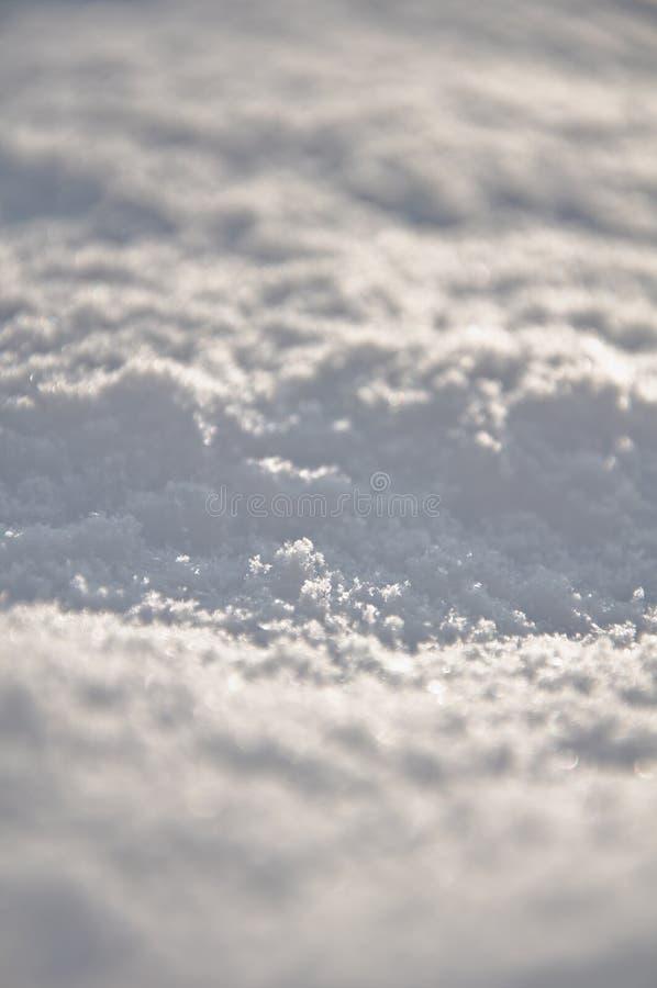 Neige fraîche au sol photographie stock