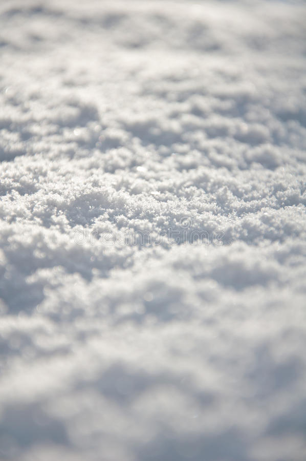 Neige fraîche au sol photos libres de droits
