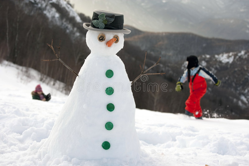 neige heureuse d'homme photographie stock