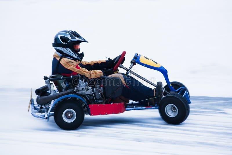 Neige Karting images libres de droits