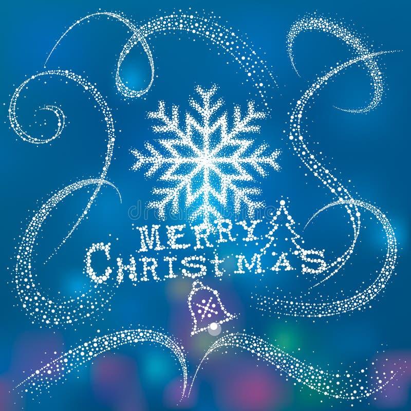 Neige magique de Noël illustration stock