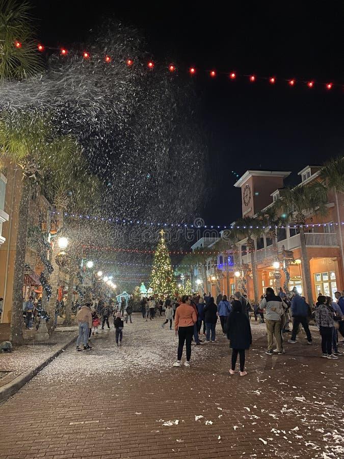 Neige pour les vacances Célébration Florida USA près d'Orlando photo libre de droits