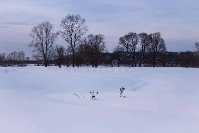 Neige profonde quelque part en Sibérie images stock