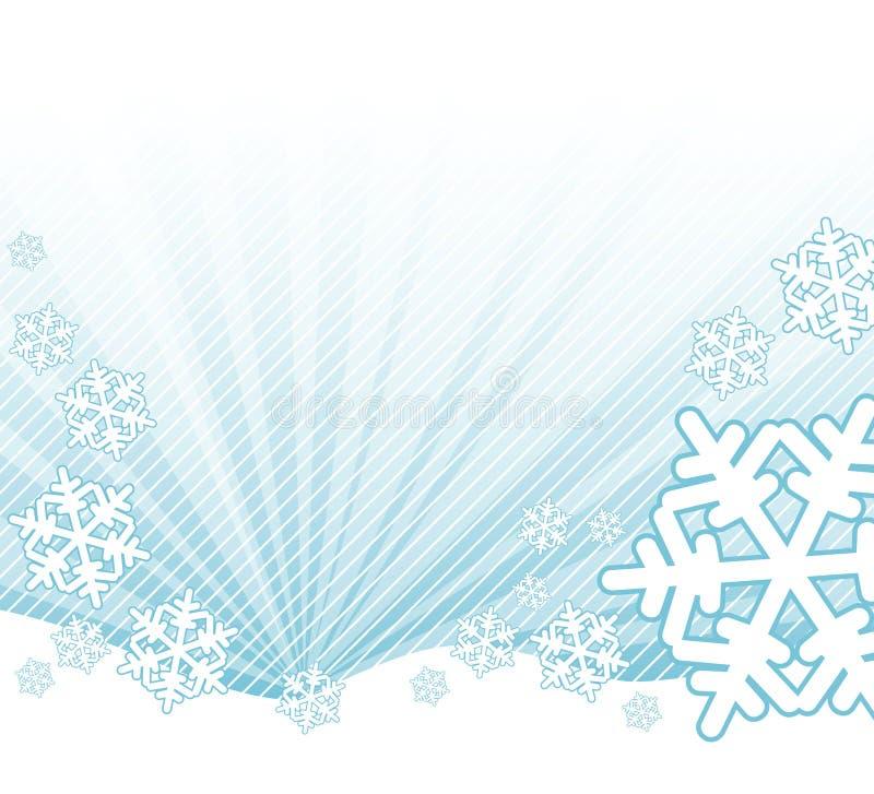 Neige tombant sur l'horizontal illustration stock