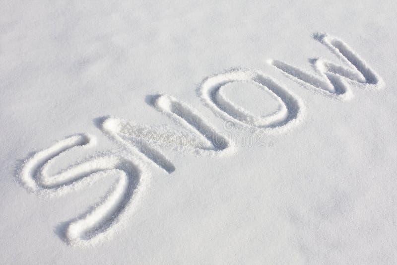 neigeux de neige de zone écrit photos stock