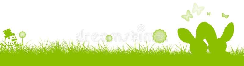 Neigez aux lapins de Pâques, de Pâques et au bonhomme de neige illustration de vecteur