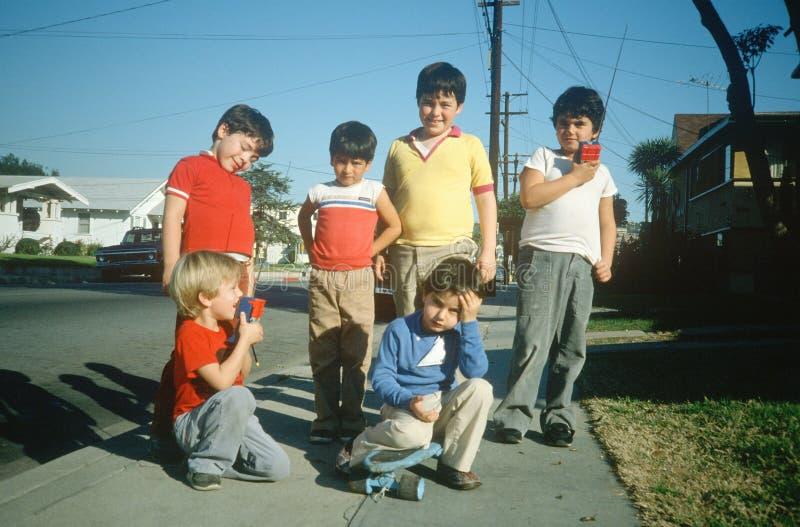 Download Neighborhood boys editorial photography. Image of people - 25960502