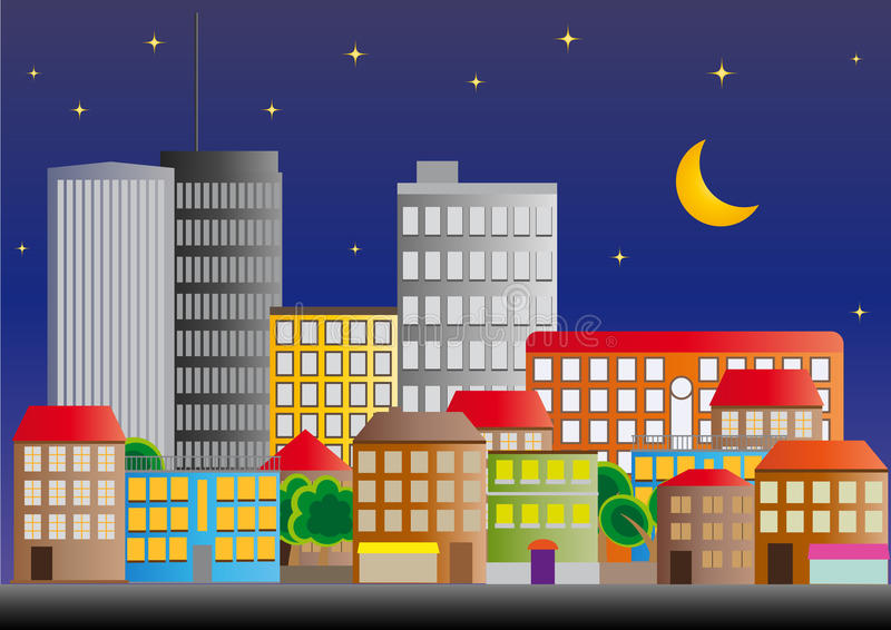 Download Neighborhood of city stock vector. Illustration of contemporary - 22305193