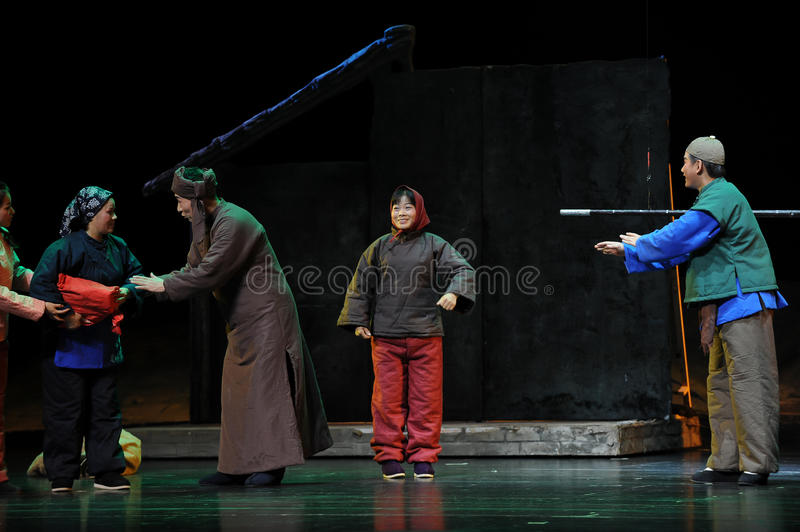 Neighborhood communication- Jiangxi opera a steelyard. Jiangxi opera a steelyard is adapted from a true story: the last century fortys, the protagonists father royalty free stock photos