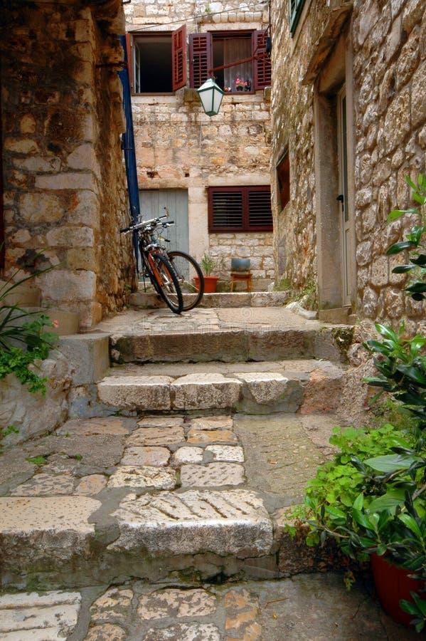 Download Neighborhood in croatia stock image. Image of light, shutters - 1422331
